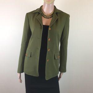 Herve Leger olive green jacket, Sz4